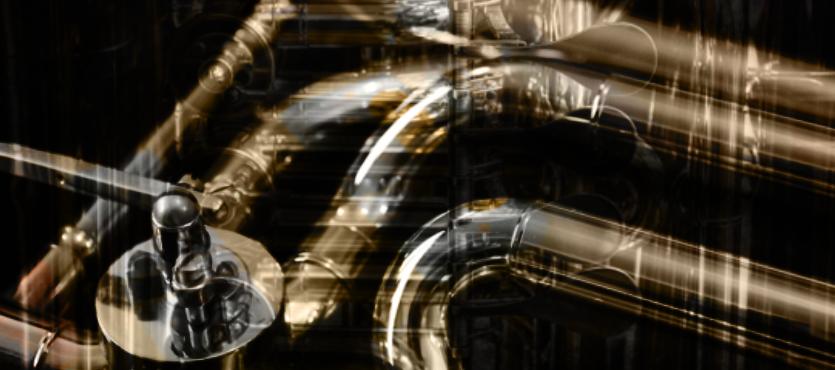 """brassy turns"" by gbmediadesign"